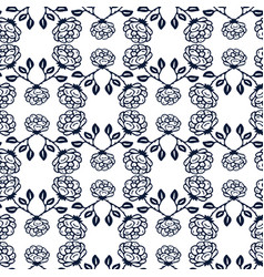 ornamental black and white roses background vector image