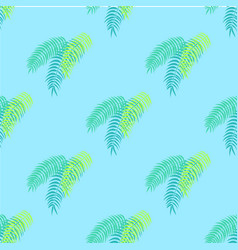 Palm leaves collection pattern vector