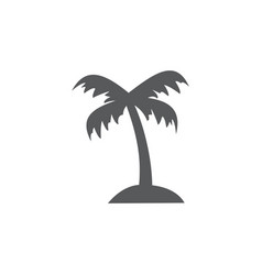 palm tree icon on white background vector image