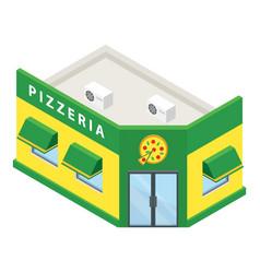 pizzeria building icon isometric style vector image