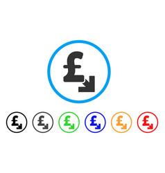 Pound decrease rounded icon vector