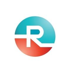 R logo Design vector image