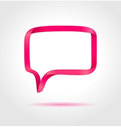 Rectangle magenta speech bubble vector