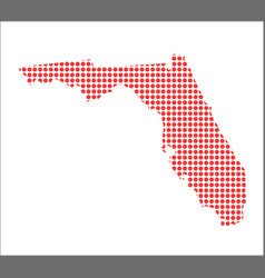 Red dot map of florida vector