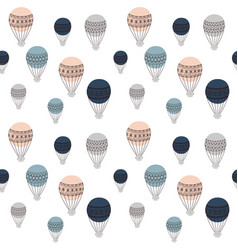 Retro air balloons seamless pattern colorful vector