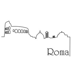 roma city one line drawing background vector image