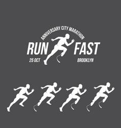 running logo marathon concept sport activities vector image