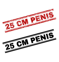 Scratched textured and clean 25 cm penis stamp vector