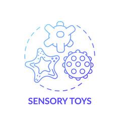 Sensory toys blue gradient concept icon vector