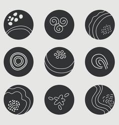 Set minimalist round covers vector