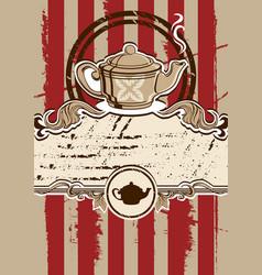 tea menu with teapot vector image