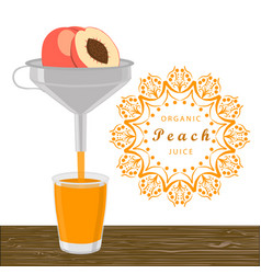 The theme peach vector