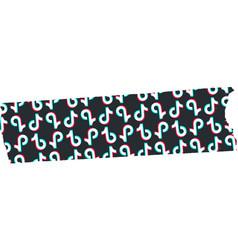 Tiktok logo washi tape free vector