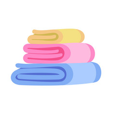 Towel stack icon flat style vector