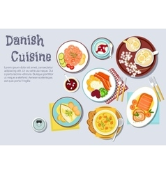 Traditional danish Christmas dinner flat icon vector