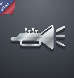 Trumpet brass instrument icon symbol 3D style vector