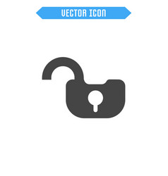 unlock flat icon vector image