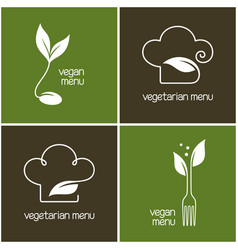 Vegetarian menu icons vector
