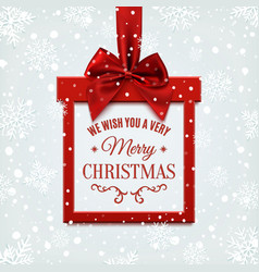 We wish you a very merry Christmas square banner vector