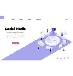 website landing page vector image