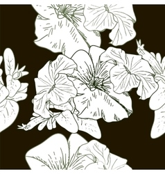 Wildflowers blooming delicate flowers background vector image