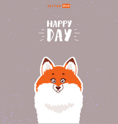 cute fox vector image vector image