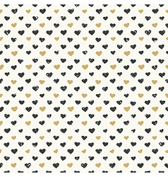 hearts pattern gold seamless vector image vector image
