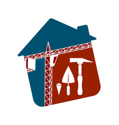 symbol for the construction business vector image