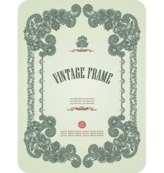 Hand draw ornate vintage frame vector