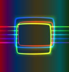 Neon screen vector image