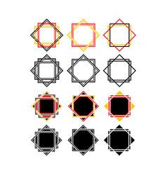 polygonal shape decoration vector image