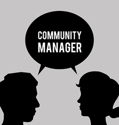 Community Manager design vector image vector image
