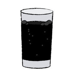 glass cup with soda fresh cold vector image