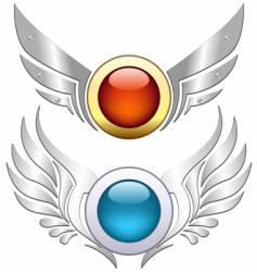 icon with wing vector image