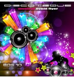 magical discotheque vector image