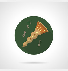 oboe melody flat color round icon vector image vector image