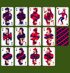 Poker playing high cards set vector