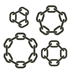 Round chains vector