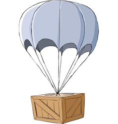 box with a parachute vector image vector image