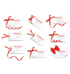 Gift tag cards vector image vector image