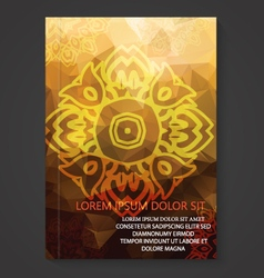 Modern Thai Art Pattern Flyer Design vector image vector image
