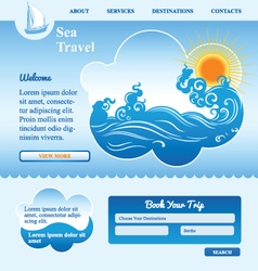 sea background with waves vector image vector image