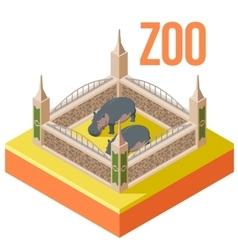 Zoo hippos isometric icon vector image