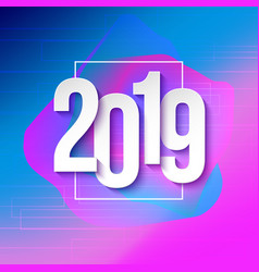 2019 numbers papers on colorful background vector