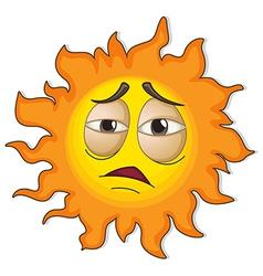 A sun with a face vector image