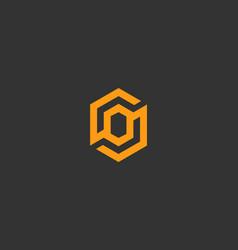 abstract letter o logo icon design modern vector image