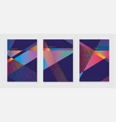 abstract modern bright color geometric cover vector image