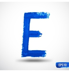 Alphabet Letter E Watercolor Alphabet vector image