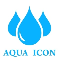 Aqua icon vector