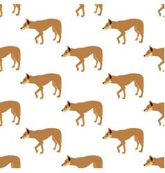 Australian dingo seamless pattern vector